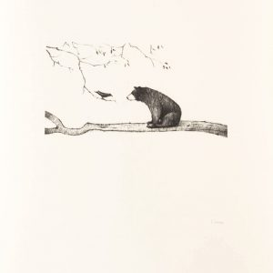 Esther-Connon-Bear-on-Branch-print